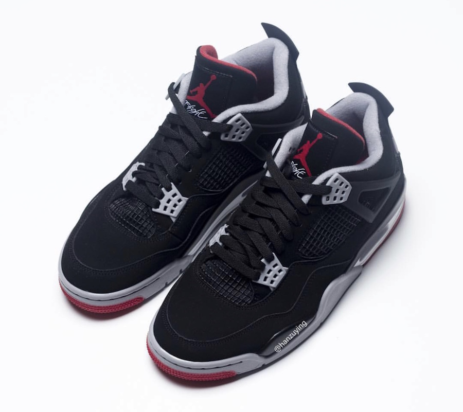 100% wysokiej jakości najlepsze buty oficjalne zdjęcia Kultowe Air Jordan 4 ,,Bred