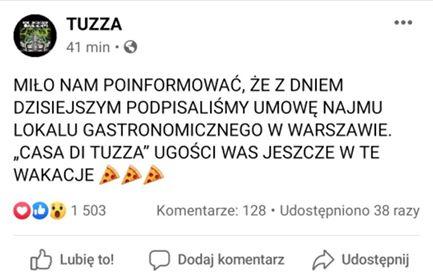 Tuzza założyli lokal gastronomiczny w Warszawie, skrr.pl