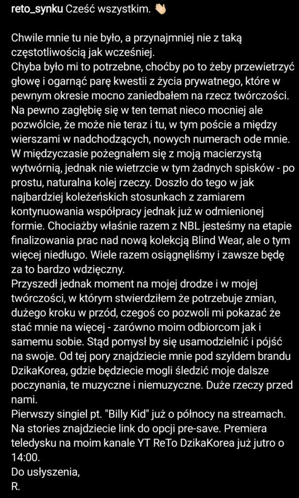 ReTo opuszcza New Bad Label, skrr.pl